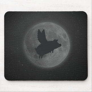 nocturnal flying pig mouse pad