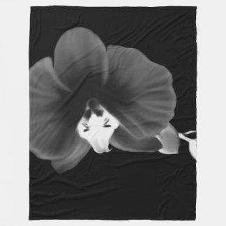 Nocturnal Orchid Fleece Blanket