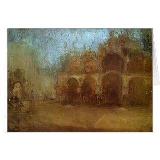 Nocturne de siffleur de James : St Mark, Venise Cartes De Vœux
