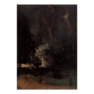 Nocturne In Black And Gold The Falling Rocket Print