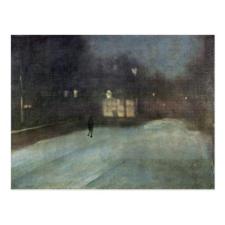 Nocturne In Gray And Gold Snow In Chelsea By Whist Postcard
