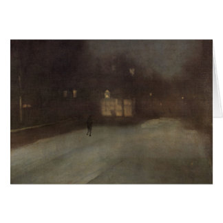 Nocturne in grey and gold by Whistler Card
