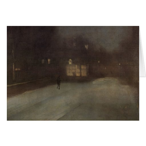 Nocturne in grey and gold by Whistler Greeting Card