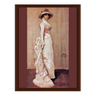 Nocturne In Pink And Gray Portrait Of Lady Meux By Postcard