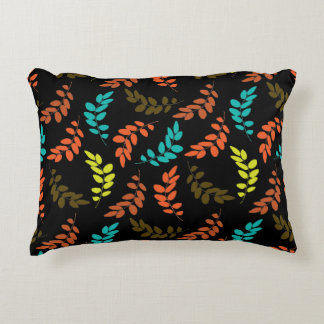 Nocturne of Leaves Accent Pillow