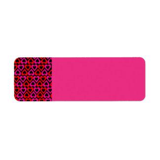 Nod to Mod Pink Hearts Return Address Labels