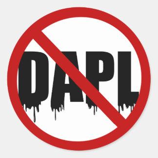 #NoDAPL Classic Round Sticker