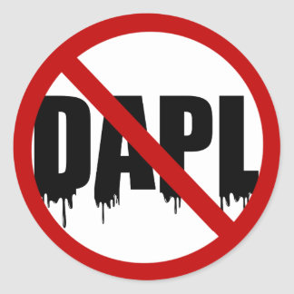#NoDAPL Round Sticker