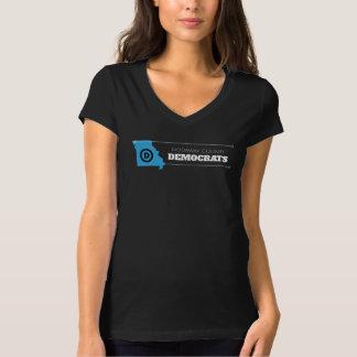 Nodaway County Democrats Women's black t-shirt