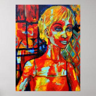 Noe Hinojosa: Original Acrylic Painting Poster