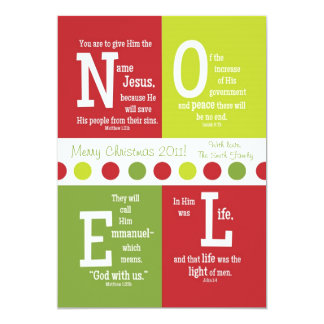 NOEL 2-Sided Scripture Christmas Card--Customize! Card