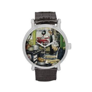 Noël à la maison vintage démodé de cuisine montres