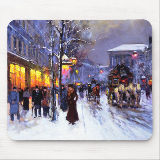 Noël à Paris. Cadeau Mousepad de Noël Tapis De Souris