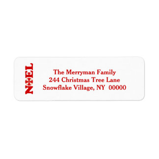 NOEL Address Label with Christmas Candy V02