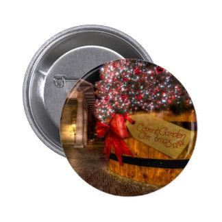 Noël au jardin de Covent Londres Badge Avec Épingle