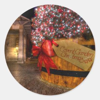 Noël au jardin de Covent, Londres Sticker Rond
