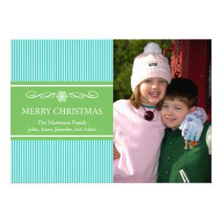 Noël barre la carte de Noël (Teal/vert) Faire-parts