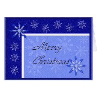 Noël bleu de flocon de neige (personnalisable) carte de vœux
