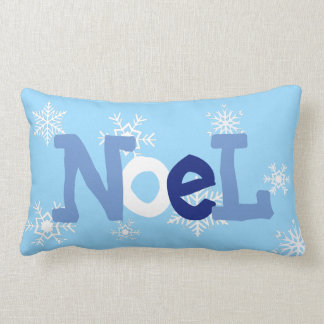 NOEL Blue Christmas Festive Pillow