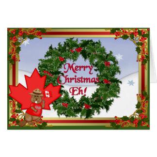 Noël canadien carte de vœux