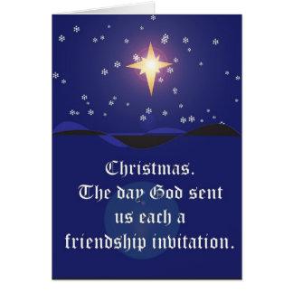 Noël : Carte d'invitation d'amitié