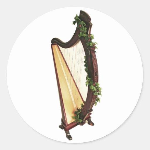 Noël celtique d'harpe adhésifs