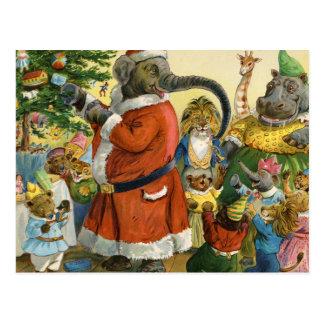 Noël chez la terre animale cartes postales