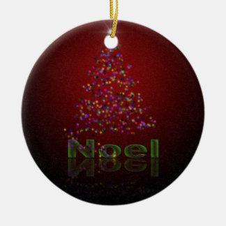 Noel Christmas Ceramic Ornament