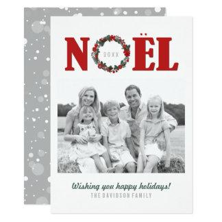 Noel Christmas Family Photo Cards