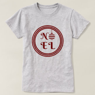 NOEL Christmas Holiday Red And White T-Shirt