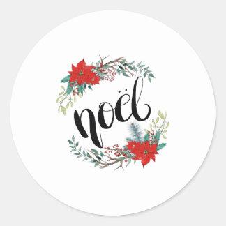 Noel Classic Round Sticker