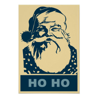 Noël d art de bruit de Père Noël Joyeux Ho Ho Affiches