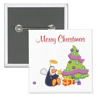 Noël d'ange de pingouin macaron carré 5 cm