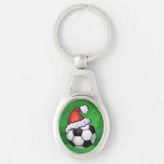 Noël de ballon de football porte-clefs