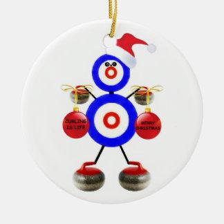 Noël de bordage ornement rond en céramique