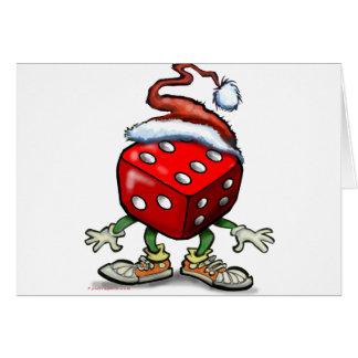 Noël de casino carte de vœux