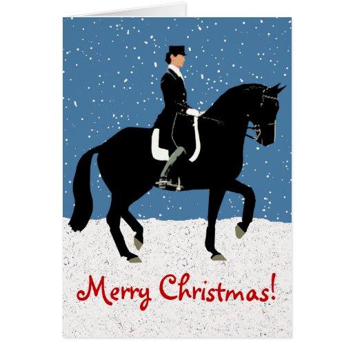 Noël de cheval de dressage de Milou Carte De Vœux