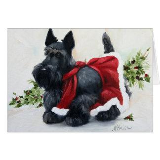 Noël de chien de Terrier d'écossais de Scottie Joy Carte De Vœux