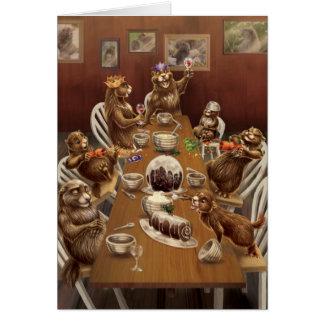 Noël de côte ouest Marmottes Carte De Vœux