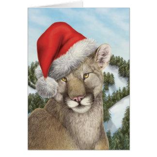 Noël de côte ouest : Puma Carte De Vœux
