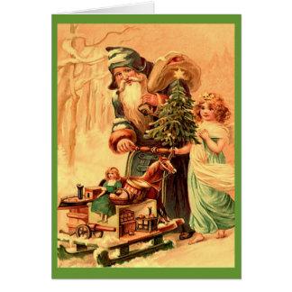 Noël de cru de St Nick Carte De Vœux