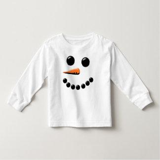 Noël de fête de vacances de visage heureux mignon t-shirt pour les tous petits