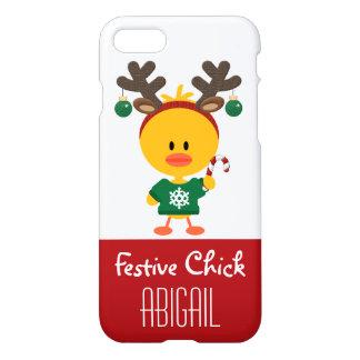 Noël de fête personnalisé de poussin coque iPhone 7