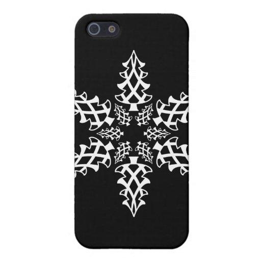 Noël de flocon de neige d'illusion optique élégant étuis iPhone 5