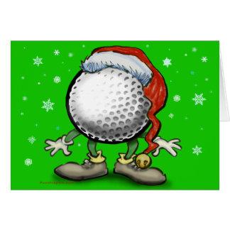 Noël de golf cartes de vœux