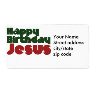 Noël de Jésus de joyeux anniversaire Étiquette D'expédition
