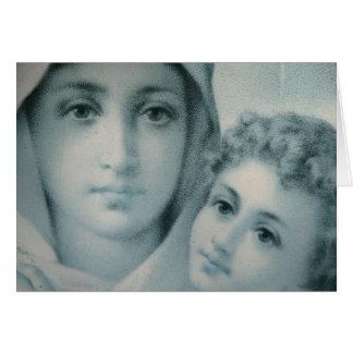 Noël de Mary et de Jésus Carte De Vœux