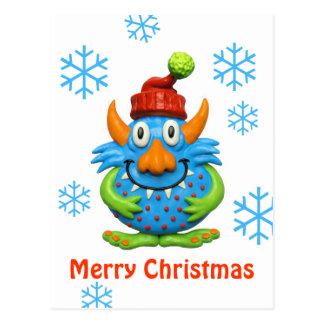 Noël de monstre repéré par bonbon carte postale