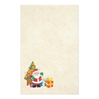 Noël de ondulation Père Noël avec un sac de Papier À Lettre Customisable