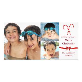 Noël de photos du sucre de canne 3 - carte photo photocartes personnalisées